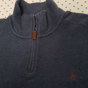 RL Polo Quarter Zipper Sweater